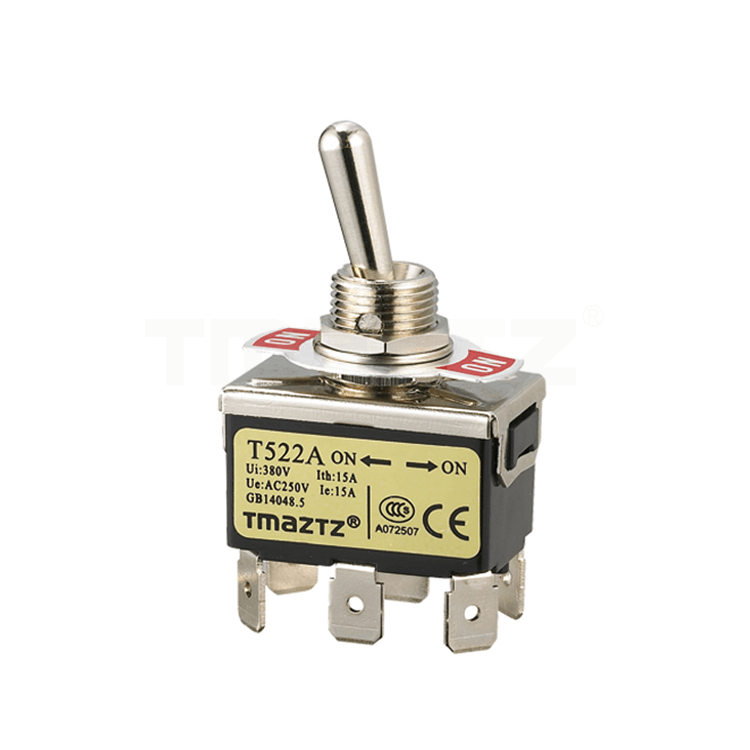 T522A On-On Toggle Switch DPDT