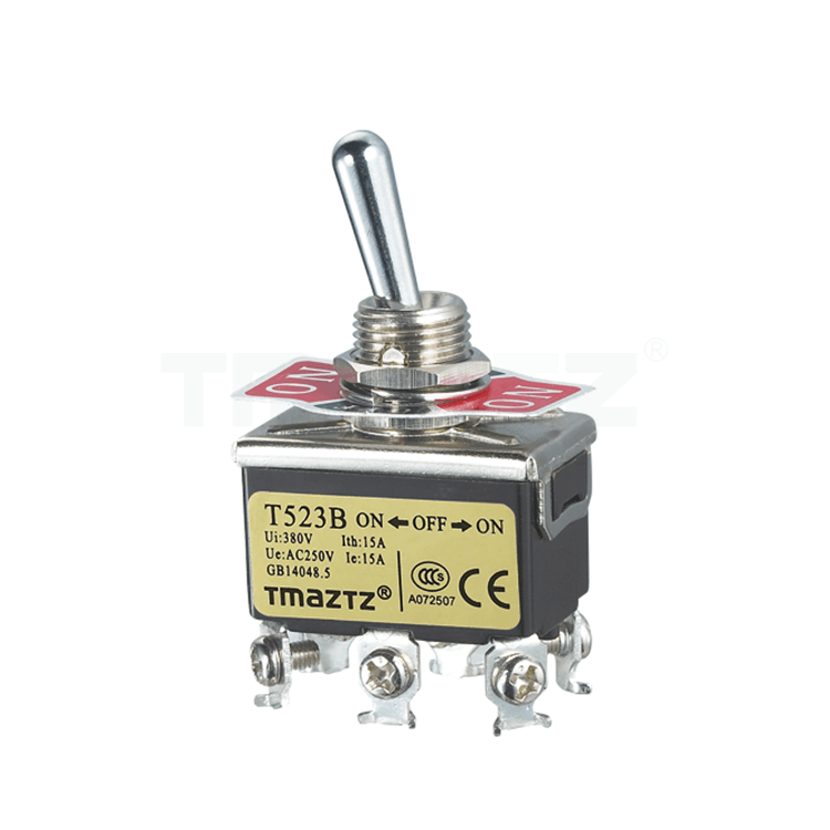 T523B On-Off-On Toggle Switch