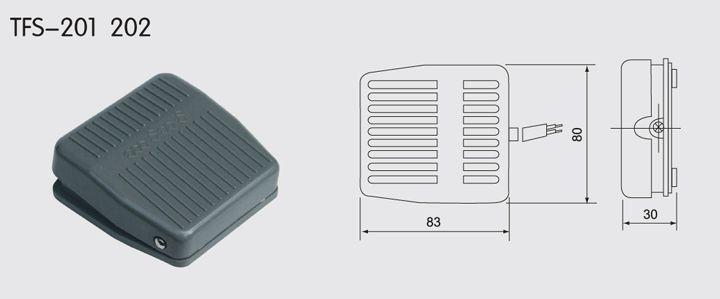 TFS-201 Foot Switch Plastic Shell